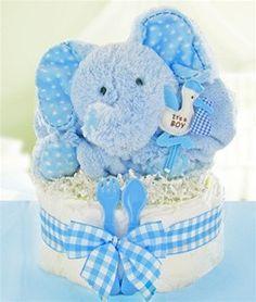 Baby Shower Huggable Elephant Diaper Cake