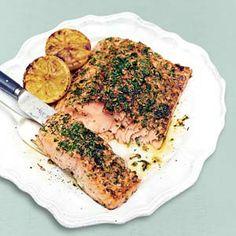 Recept - Jamies kruidige zalmfilet uit de oven - Allerhande - max 15 min in de oven!