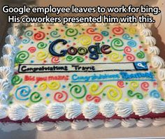 Farewell cake…