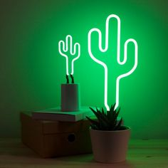 Bring a little Vegas desert chic into your home with the Cactus Neon Light. Whether you& illuminating your desktop with the small version or lighting up the Cactus Lamp, Neon Cactus, Cactus Light, Neon Lighting, Modern Lighting, Neon Lamp, Brass Lamp, Floor Decor, Light Up