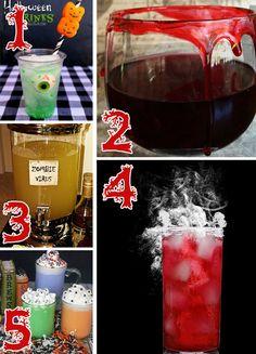 Finalmente as dicas de bebidas para a sua festa de halloween!! Deixe o dia das bruxas bem mais divertido com elas!