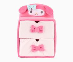 My Melody Plush 2-Tier Drawers: Pink