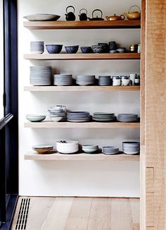 open shelving in kit