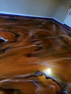 Colorful Metallic Epoxy Flooring - Chandler AZ