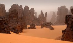 This is Maghidet in the Fezzan desert (Sahara area) in Libya. Fantastic landscape, captured by Marina Savina