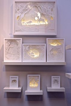 Lindas caixas de luz com papel recortado  por Hari & Deepti