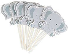 photograph relating to Free Printable Elephant Baby Shower known as No cost Printable Elephant Cupcake Toppers Printable Snacks