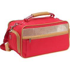 #BarkNBag, #Luggage, #PetBags - Bark n Bag Nylon Pet Carrier - Small Red - Red/Tan