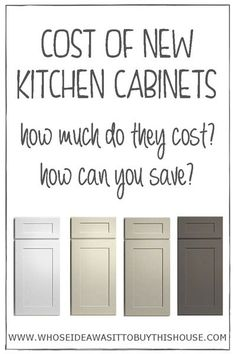 curious about how much new kitchen cabinets cost find out exactly how much we paid