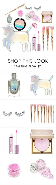 """""""Unicorn Makeup"""" by kittykitty83 ❤ liked on Polyvore featuring beauty, WithChic, Unicorn Lashes, Stila, Medusa's Makeup and Estée Lauder"""