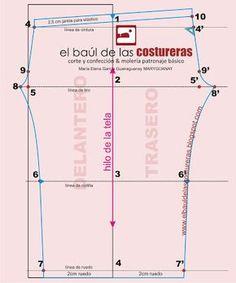 Calzas, trazado de molde | EL BAÚL DE LAS COSTURERAS Sewing Pants, Sewing Clothes, Diy Clothes, Pattern Drafting Tutorials, Sewing Tutorials, Clothing Patterns, Sewing Patterns, Cutting Practice, Fashion D