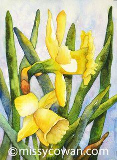 DYNAMIC DUO - Original  Watercolor Painting