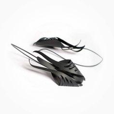 "432 Likes, 14 Comments - Kinga Sulej (@mimikra) on Instagram: ""Hand made silver earrings #silver #jewelry #jewellery #black #blackjewelry #patina #earrings…"""