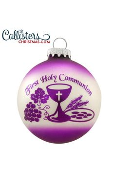 Celebrate this special time in your child's faith journey. Commemorate their receiving of the sacrament of the Eucharist with our personalized First Holy Communion ornaments. First Communion Gifts, First Holy Communion, Christmas Bulbs, Christmas Decorations, Eucharist, Personalized Christmas Ornaments, How To Make Ornaments, Gifts For Boys, Holi