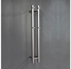 Heated Towel Rail - Vertical Double Bar