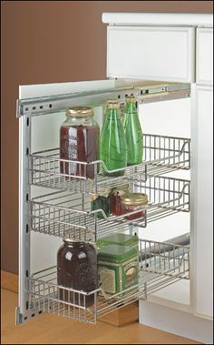For those pesky bottom cupboards! Small Side-Mount Pullouts - Lee Valley Tools