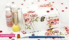 Návod na decoupage techniku Decoupage Vintage, Vintage Fashion, Vintage Style, Decorative Boxes, Gift Wrapping, Gifts, Diy, Home Decor, Phone