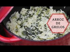Receita de Arroz de Grelos - Clara de Sousa Tapas, Green Rice, Turnip Greens, Grains, Vegan, Deep Fried Fish, Fish Dishes, Vegetarian Recipes, Good Things
