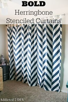 These curtains are awesome and make such a statement in an otherwise boring room!