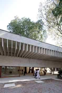The Nordic pavillion at the Venice Biennale finished in 1962, designed by Sverre Fehn, which also houses the 2012 Biennale.