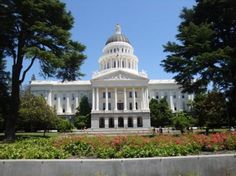 Sacramento Capitol Building, the grounds are wonderful to walk through.
