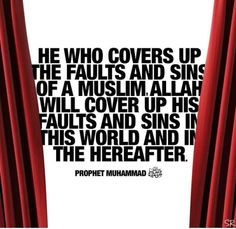 Allah will cover sins and faults
