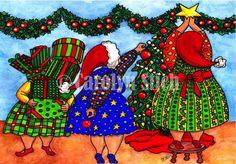 The Girls Wishing You a Joyful Season - Carolyn Stich Studio