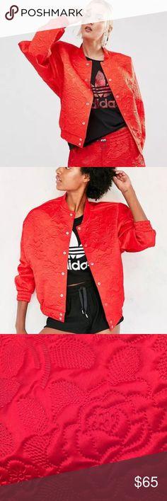 ADIDAS RED BOMBER JACKET NWOT SM Super cute adidas Jackets & Coats