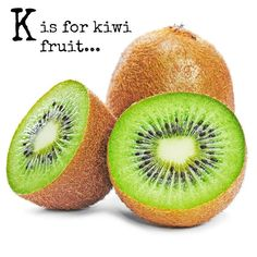 K is for kiwi fruit. Kiwi fruit are an unusually looking nutritious and conveniently packaged food source packed with fibre and vitamins.  They're vibrant deliciously sweet and make a great fruit salad or lunchbox addition- perfect for little hands and brilliant for little ones on the go. --------- read more(link in bio): http://ift.tt/2oqyzTo ... we have a fun and engaging food craft idea plus a beautiful allergy friendly food inspiration coming shortly...   DID YOU KNOW? - A kiwi fruit has…