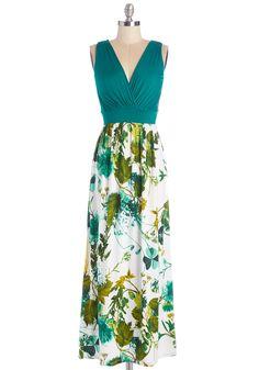 Fab Foliage Dress   Mod Retro Vintage Dresses   ModCloth.com