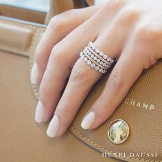 Celebrate everyday with a touch of glamour from Henri Daussi #jewelry #jewellery #ring #rings #pretty #love #glam #instaglam #instafashion #beautifulringsjewelry