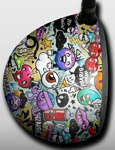 Personalized Golf Driver Skin - Designer - Graffiti Cherry by Big Wigz Skins.  Buy it @ ReadyGolf.com