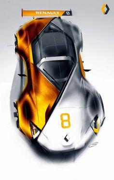 Renault Concept Design Sketch by Artem Smirnov