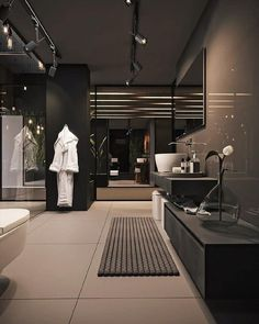 Dream House Interior, Luxury Homes Dream Houses, Dream Home Design, Home Interior Design, Dream Homes, Modern Luxury Bathroom, Bathroom Design Luxury, Contemporary Kitchen Cabinets, Küchen Design
