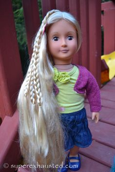 """Our Generation Doll Review 18"""" doll from Target alternate to Ag extendable hair #Dolls #ag #toy"""