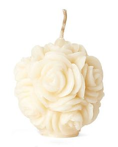 VOLCANICA Ivory Floral Mini Sphere Candle