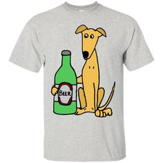 Cool Funny Greyhound Dog with Large Beer T-Shirt & Hoodie - The Sun Cat