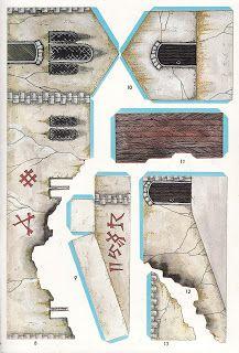 Oldhammer Generals: Vengeance of the Lichemaster Warhammer Terrain, 40k Terrain, Wargaming Terrain, 3d Paper Crafts, Paper Art, Warhammer Dark Angels, Free Paper Models, Paper Structure, Nerd Crafts
