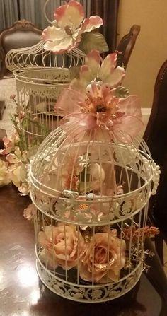 Rose gold centerpiece birdcage