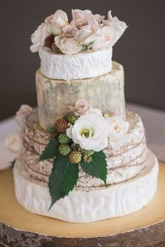 Amazing-Wedding-Cakes-Cheese-Wheels-Roses