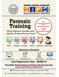 Forensic Science foundation courses in science