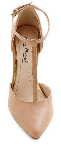 Wardrobe essential: Nude heels.