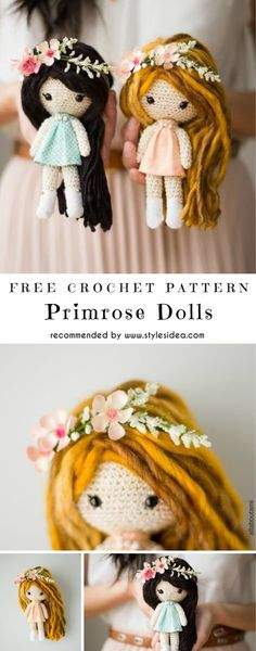 Primrose Dolls Free Crochet Pattern #freecrochetPatterns #amigurumidolls #freepattern