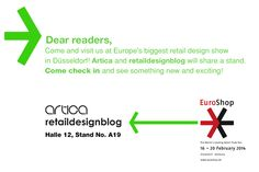 We proudly announce that we'll participate in the Euroshop exhibition and fair in Düsseldorf. Come and visit our stand!