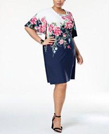 Plus Size Dresses - Macy s. Odevy Nadmerných VeľkostíNadmerné Oblečenie a0c35b0623