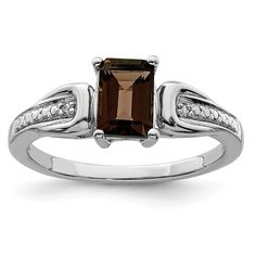 Pin it for later. Find out more chocolate diamond engagement rings. 925 Sterling Silver Diamond Smoky Quartz Band Ring Gemstone Fine Jewelry For Women Gift Set Jewelry Gifts, Fine Jewelry, Women Jewelry, Smoky Quartz Ring, Celtic Wedding Rings, Diamond Stone, Emerald Stone, Silver Diamonds, Diamond Engagement Rings