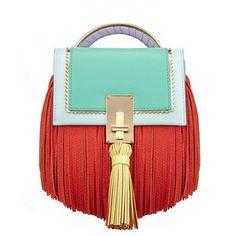 The Volon Bon-bon Sky Blue Color Block Handbag