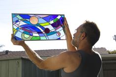 Art and the Artist Water Lighting, Stained Glass, Artist, Stained Glass Panels, Artists, Leaded Glass, Fused Glass