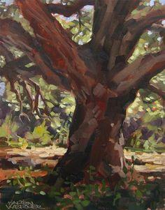 """""""Majestic Oak"""" - Original Fine Art for Sale - © Karen Werner"""