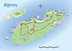 Map of Alderney Alderney (French: Aurigny; Auregnais: Aoeur'gny) is the most northerly of the Channel Islands. It is part of the Bailiwick of Guernsey, a British Crown dependency. Capital: St. Anne